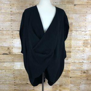 Hyfve Black Draped Poncho Sweater Sz L